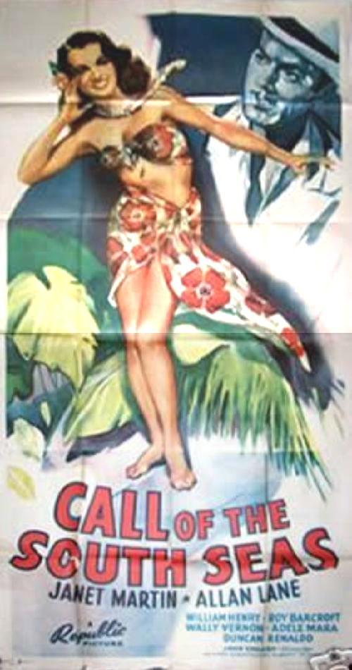 CALL OF THE SOUTH SEAS 3 sheet