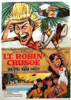 LT. ROBIN CRUSOE Swedish 1 sheet 28X40