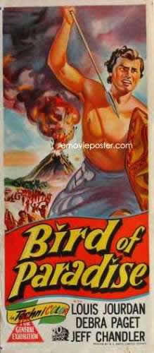 Bird of Paradise 1951 daybill