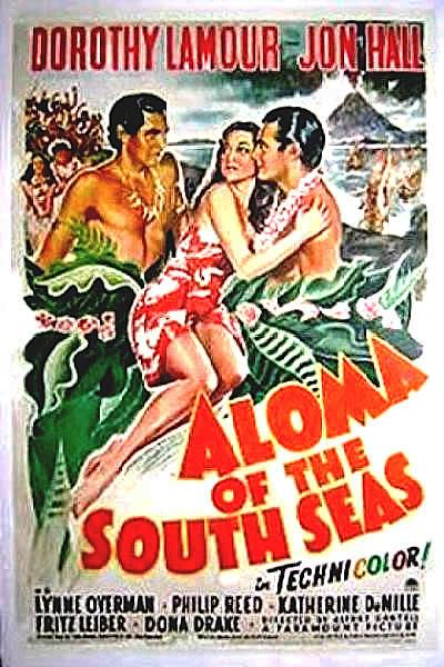ALOMA OF THE SOUTH SEAS 1 sheet