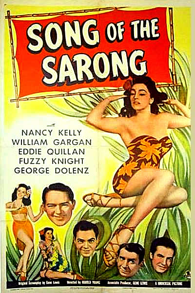 SONG OF THE SARONG 1 sheet