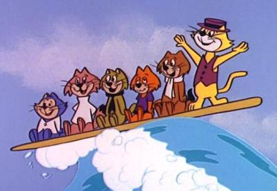 "TOP CAT ""Hawaii Here We Come"" Gang surfs"