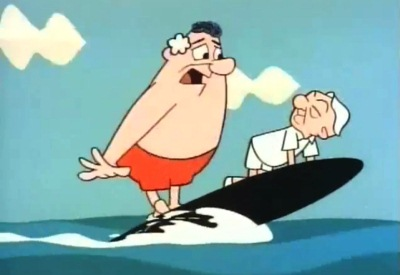 Mr Magoo surfing