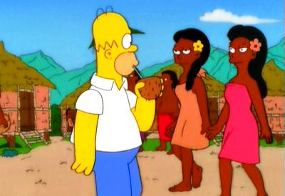 Missionary Impossible Homer checks out native wahines